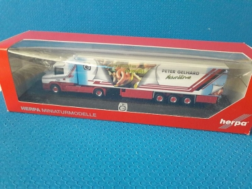 HERPA Peter Gelhard Scania Sattelzug  in PC Box