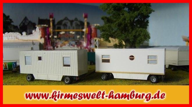 Kirmeswelt hamburg de mannschaftswagen top in 2er set bausatz for Wohncontainer bausatz